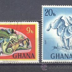 Sellos: GHANA, FAUNA, USADOS. Lote 25184571
