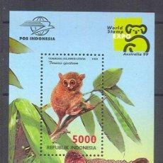 Briefmarken - Indonesia - Fauna - Mamíferos - Monos - Hoja Bloque ** - 26038019
