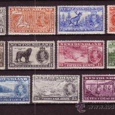 Timbres: TERRANOVA 208/18* - AÑO 1937 - FAUNA - PECES - PERROS - BARCOS - PAISAJES - MAPAS. Lote 26209738