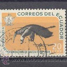 Sellos: ECUADOR, IV CENT. DE LA FUNDACION DE BAEZA, USADO. Lote 26241614