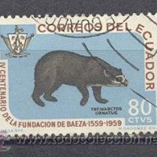 Sellos: ECUADOR, IV CENT. DE LA FUNDACION DE BAEZA, USADO. Lote 26241618