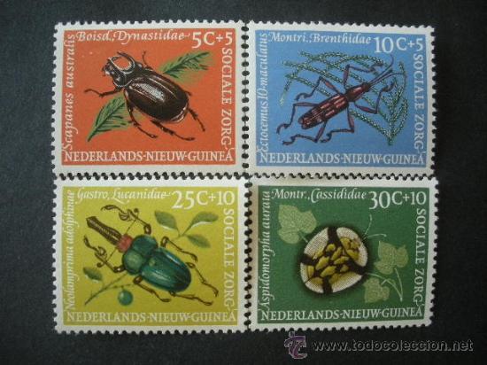 NUEVA GUINEA HOLANDA 1961 IVERT 64/7 *** FAUNA - INSECTOS (Sellos - Temáticas - Fauna)