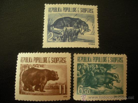 ALBANIA 1961 IVERT 549/51 *** ANIMALES SALVAJES - FAUNA (Sellos - Temáticas - Fauna)