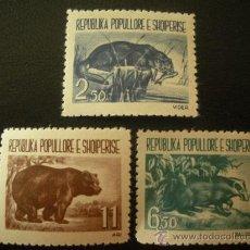 Sellos: ALBANIA 1961 IVERT 549/51 *** ANIMALES SALVAJES - FAUNA. Lote 27956596