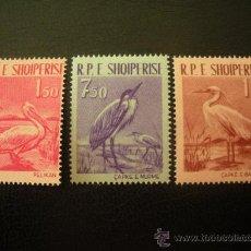Sellos: ALBANIA 1961 IVERT 552/4 *** AVES DIVERSAS - FAUNA. Lote 27956650
