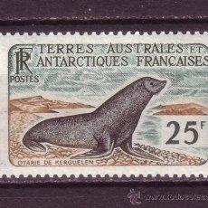 Sellos: TIERRAS AUSTRALES Y ANTARTICAS FRANC. 16*** - AÑO 1959 - FAUNA MARINA - OTARIO DE KERGUELEN . Lote 28719369