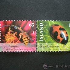 Sellos: ISLANDIA 2006 IVERT 1070/1 *** INSECTOS - FAUNA. Lote 30309885