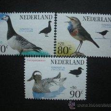 Sellos: HOLANDA 1994 IVERT 1465/7 *** EXPOSICIÓN FILATÉLICA INTERNACIONAL - FEPAPOST-94 - FAUNA - AVES. Lote 30310055