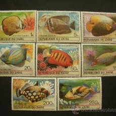 Sellos: ZAIRE 1980 IVERT 995/1003 *** FAUNA MARINA TROPICAL - PECES. Lote 31085899