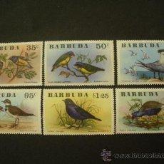 Sellos: BARBUDA 1976 IVERT 251/6 *** FAUNA - AVES. Lote 32440835