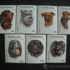 Sellos: TANZANIA 1994 IVERT 1421/7 *** FAUNA - PERROS DE RAZA. Lote 32464244