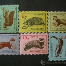 Sellos: BULGARIA 1963 IVERT 1176/81 *** FAUNA SALVAJE . Lote 35576751