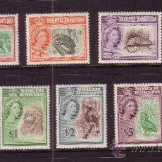 Sellos: BORNEO DEL NORTE 315/30*** - AÑO 1961 - FAUNA - AVES - ANIMALES SALVAJES. Lote 32982639