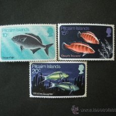 Sellos: PITCAIRN 1970 IVERT 114/6 *** FAUNA - PECES. Lote 34375253