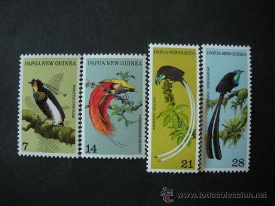 PAPUA Y NUEVA GUINEA 1973 IVERT 238/41 *** FAUNA - AVES DEL PARAISO (Sellos - Temáticas - Fauna)