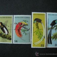 Sellos: PAPUA Y NUEVA GUINEA 1973 IVERT 238/41 *** FAUNA - AVES DEL PARAISO. Lote 34518261