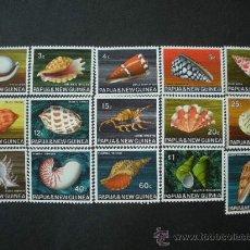Sellos: PAPUA Y NUEVA GUINEA 1968 IVERT 138/51 *** FAUNA MARINA - CONCHAS. Lote 34518289