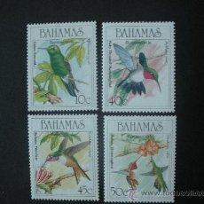 Sellos: BAHAMAS 1989 IVERT 685/8 *** FAUNA - AVES - COLIBRIS. Lote 34576873