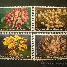 Sellos: PAPUA 1982 IVERT 438/41 *** FAUNA MARINA - CORALES . Lote 35207689