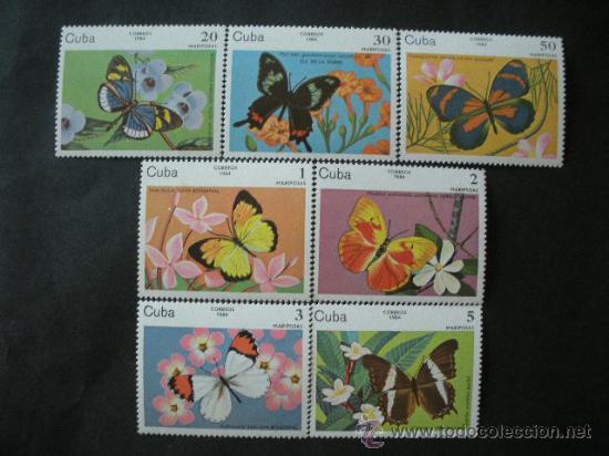 CUBA 1984 IVERT 2515/21 *** FAUNA - MARIPOSAS DIVERSAS (Sellos - Temáticas - Fauna)