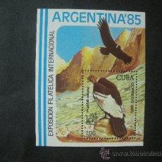 Sellos: CUBA 1985 HB IVERT 89 *** FAUNA - AVES - EXPOSICIÓN FILATÉLICA INTERNACIONAL - ARGENTINA-85. Lote 35506481