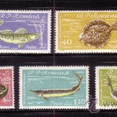 Sellos: RUMANIA 1741/47*** - AÑO 1960 - FAUNA - PECES DEL MAR NEGRO. Lote 35872352
