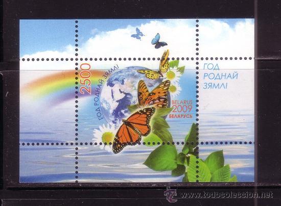 BIELORRUSIA HB 68*** - AÑO 2009 - FAUNA - MARIPOSAS - AÑO DE LA MADRE TIERRA (Sellos - Temáticas - Fauna)