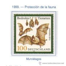 Sellos: ALEMANIA FEDERAL=YVERT Nº 1916=PROTECCION DE LA FAUNA=AÑO 1999=CATALOGO 1,60 €. Lote 36221407