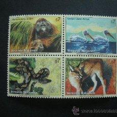 Sellos: NACIONES UNIDAS VIENA1999 IVERT 307/10 *** FAUNA - ANIMALES EN PELIGRO DE EXTINCIÓN. Lote 36401872