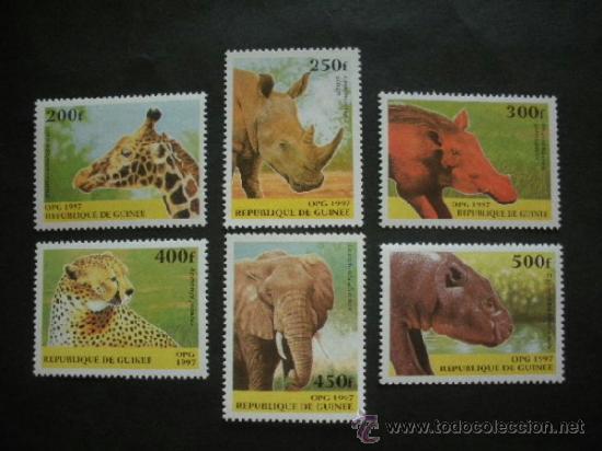 R.GUINEA 1997 IVERT 1111/6 *** FAUNA - ANIMALES SALVAJES (Sellos - Temáticas - Fauna)
