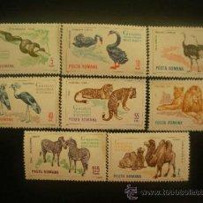 Sellos: RUMANIA 1964 IVERT 2054/61 *** JARDIN ZOOLOGICO DE BUCAREST - FAUNA SALVAJE. Lote 37259557