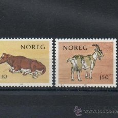 Sellos: NORUEGA=YVERT Nº 790/91=NATURALEZA-FAUNA-ANIMALES DOMESTICOS=AÑO 1981=REF:F011. Lote 37672277