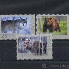 Sellos: NORUEGA=YVERT Nº 1580/82=NATURALEZA-FAUNA-ANIMALES SALVAJES=AÑO 2008=REF:F011. Lote 37672998