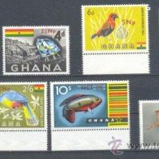 Sellos: GHANA. YVERT 266/73 **. Lote 37903678