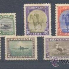 Sellos: GROENLANDIA. YVERT 10/18 *. Lote 37916419
