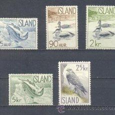 Sellos: ISLANDIA.- YVERT 294/98 *. Lote 38007635