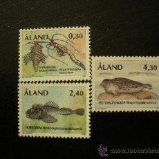 Sellos: ALAND 1997 IVERT 120/2 *** FAUNA - RESTOS DE ANIMALES DE LA EPOCA GLACIAR . Lote 38158126