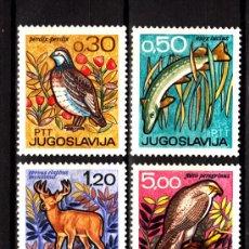 Timbres: YUGOSLAVIA 1122/25* - AÑO 1967 - FAUNA - PECES - AVES. Lote 198167322