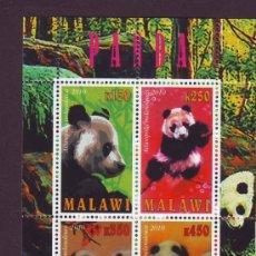 Sellos: MALAWI 2010 HOJA BLOQUE TEMATICA FAUNA OSO PANDA . Lote 39165047