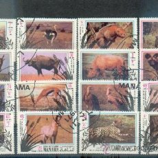 Sellos: FAUNA AFRICANA .- PRECIOSA Y GRAN SERIE COMPLETA DE MANAMÁ. Lote 39234846