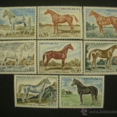 Sellos: MONACO 1970 IVERT 831/8 *** CABALLOS DE PURA SANGRE - FAUNA . Lote 40284404