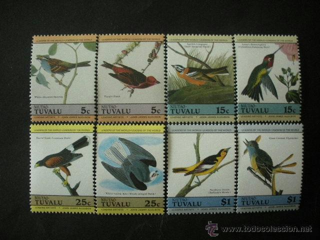 TUVALU - NIUTAO 1985 SCOTT 25/28 *** FAUNA - PAJAROS - AVES (Sellos - Temáticas - Fauna)