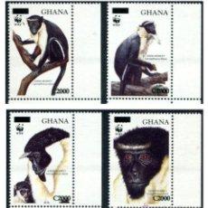 Sellos: SERIE GHANA 2006 - WWF MONOS (SOBRECARGADA) YVERT 3169/3172 **. Lote 41502437