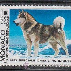 Sellos: MONACO 1367, PERRO (ALASKAN MALAMUTE), EXPOSICION CANINA INTERNACIONAL, NUEVOS***. Lote 118901347