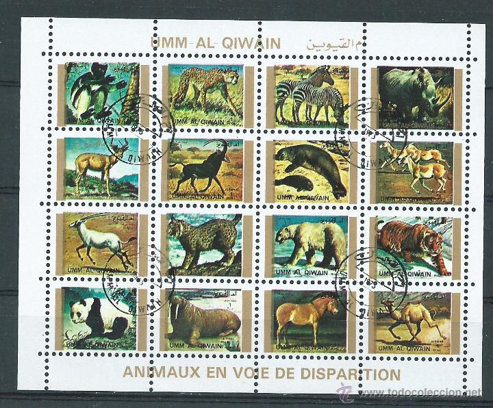 HOJA BLOQUE DE ANIMALES, MUNDO, FRANQUEADA (Sellos - Temáticas - Fauna)