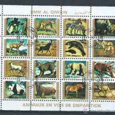 Sellos: HOJA BLOQUE DE ANIMALES, MUNDO, FRANQUEADA. Lote 47031949
