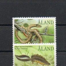 Sellos: ALAND-FINLANDIA=YVERT Nº 199/200=REPTILES Y ANFIBIOS=AÑO 2002=REF=FI154. Lote 48429923