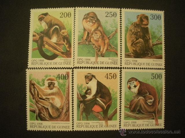 R.GUINEA 1998 IVERT 1255U/55Z *** FAUNA - MONOS (Sellos - Temáticas - Fauna)