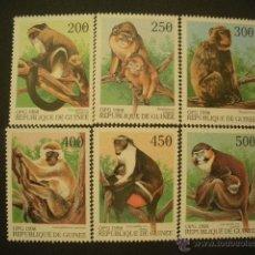 Sellos: R.GUINEA 1998 IVERT 1255U/55Z *** FAUNA - MONOS. Lote 50596915