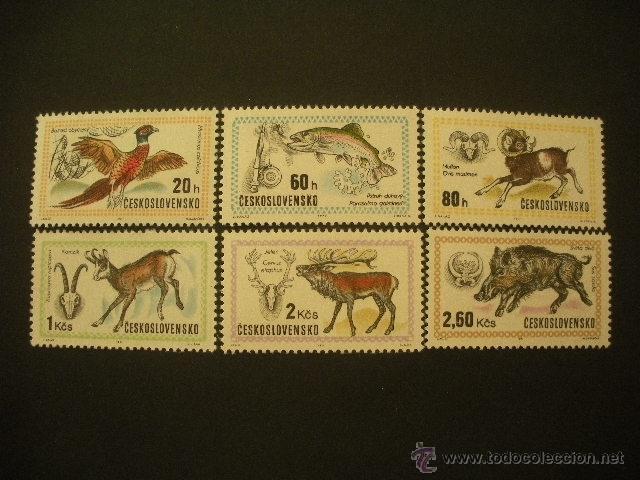 CHECOSLOVAQUIA 1971 IVERT 1858/63 *** EXPOSICIÓN MUNDIAL DE CAZA EN BUCAREST - FAUNA (Sellos - Temáticas - Fauna)